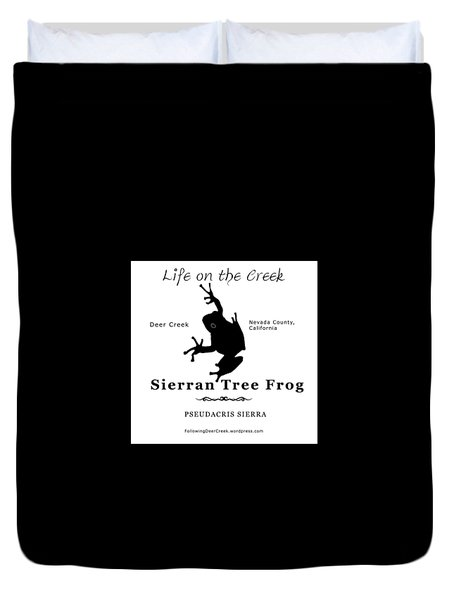 Sierran Tree Frog - Black Graphics Duvet Cover