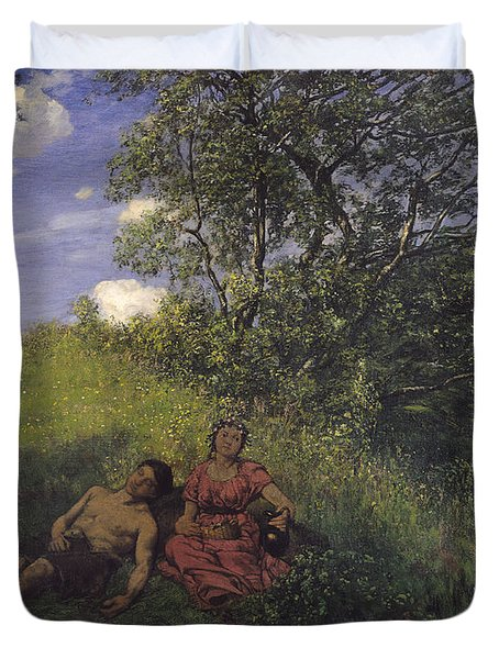 Siesta Duvet Cover by Hans Thoma