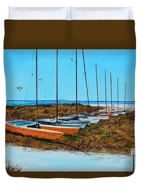 Siesta Key Access #8 Catamarans Duvet Cover