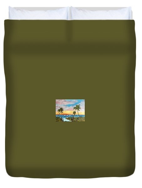 Siesta Key At Sunset Duvet Cover