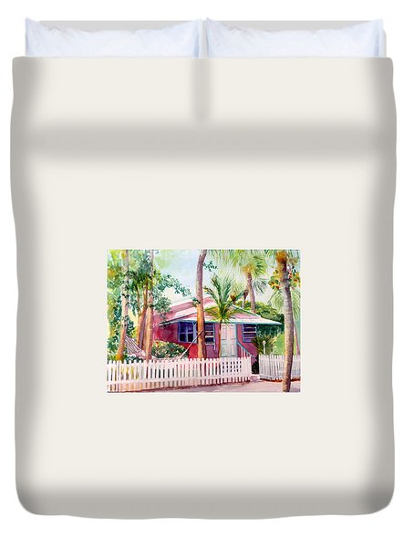 Siesta Key Cottage Duvet Cover