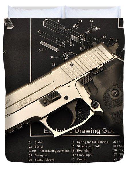 Sig Sauer Pistol Duvet Cover