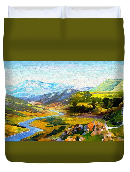 Sights And Sounds Duvet Cover