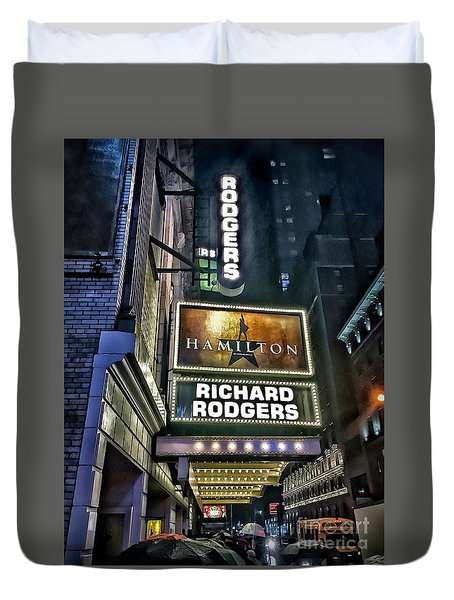 Sights In New York City - Hamilton Marquis Duvet Cover
