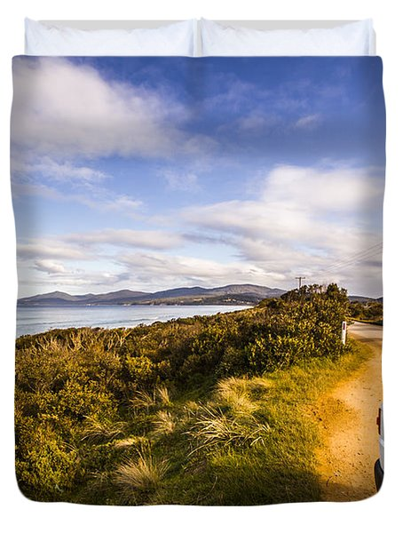 Sightseeing Southern Tasmania Duvet Cover