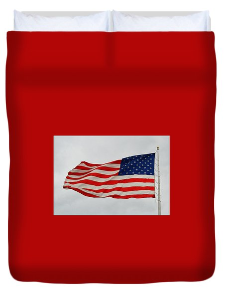 Sign Of Freedom Duvet Cover