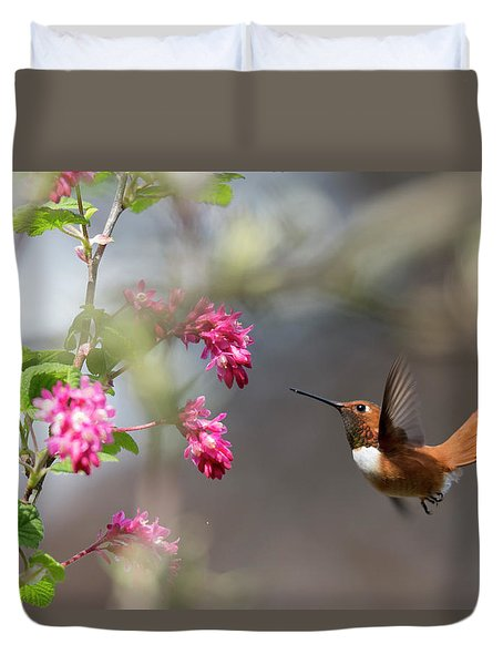 Sign Of Spring 3 Duvet Cover by Randy Hall