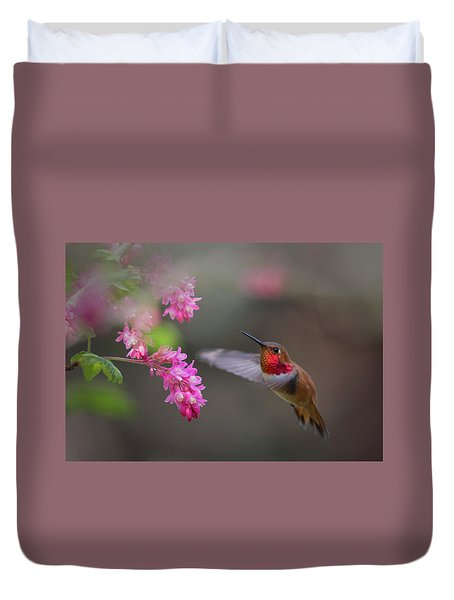 Sign Of Spring Duvet Cover by Randy Hall
