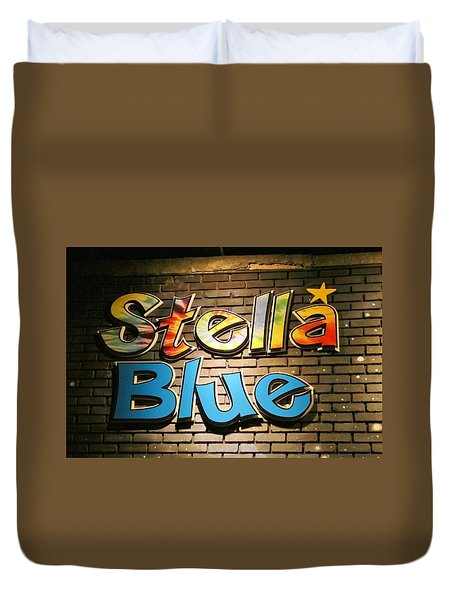 Sign Of Stella Blue Duvet Cover