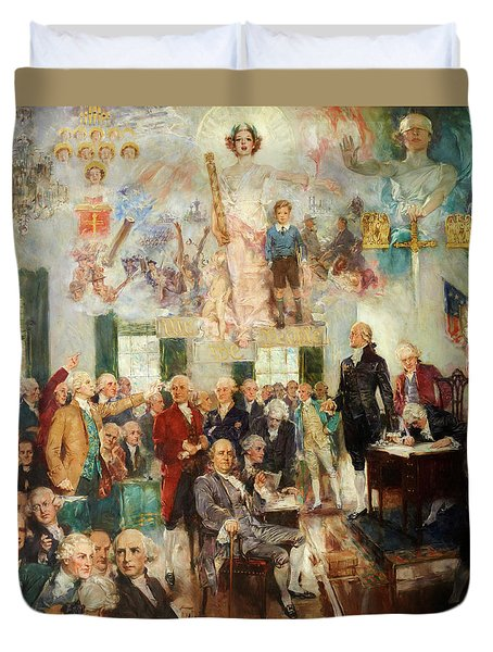 Signing Of The Constitution Duvet Cover