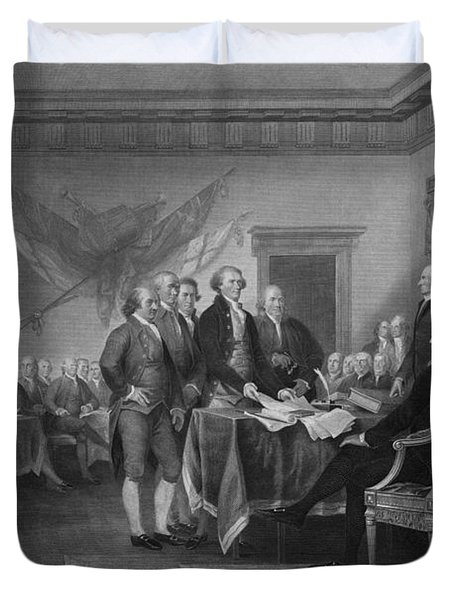 Signing The Declaration Of Independence Duvet Cover by War Is Hell Store