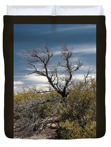 Duvet Cover featuring the photograph Signs Of Life After The Fire by Joe Kozlowski