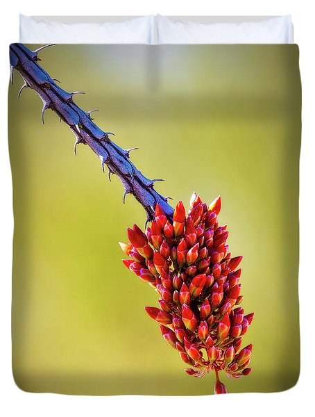 Duvet Cover featuring the photograph Signs Of Life by Rick Furmanek