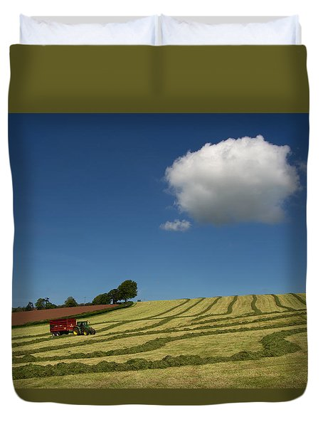 Silage Making  Duvet Cover