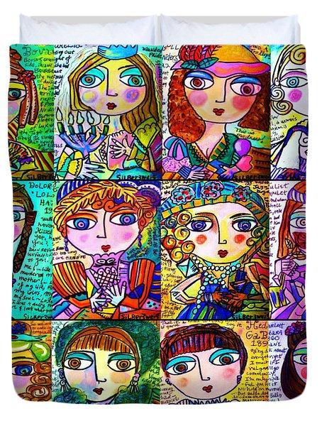 Silberzweig - Ladies Of Literature -   Duvet Cover
