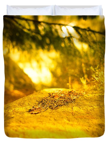 Silence And Peace Under The Spruce Trees Duvet Cover