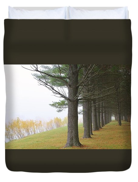 Silence In The Air Duvet Cover