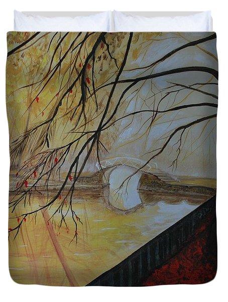 Silence Duvet Cover by Leslie Allen