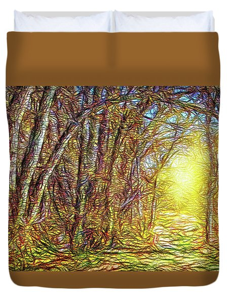Silence Of A Forest Path Duvet Cover
