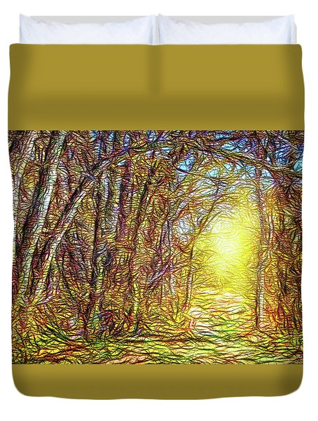 Silence Of A Forest Path Duvet Cover by Joel Bruce Wallach