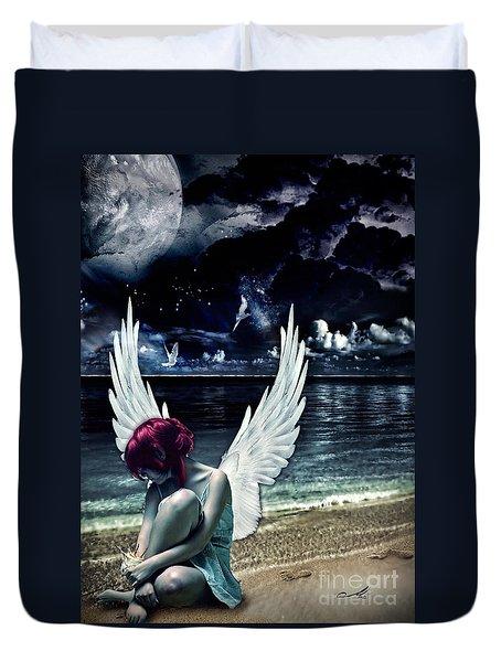 Silence Of An Angel Duvet Cover