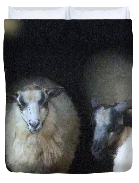 Silence Of The Sheep Duvet Cover