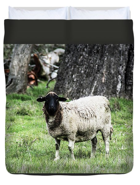 Silence Of The Umm Sheep 1 Duvet Cover