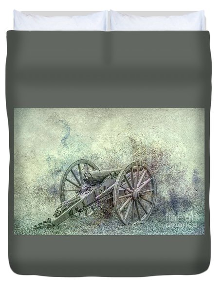 Duvet Cover featuring the digital art Silent Cannon Field Of Fire by Randy Steele
