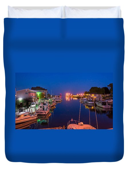 Silent Harbor Duvet Cover