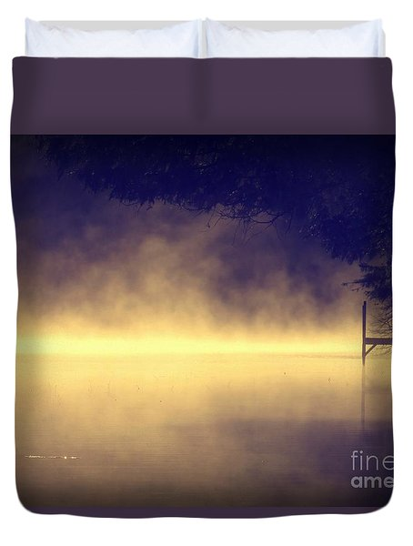 Duvet Cover featuring the photograph Silent Lake by France Laliberte
