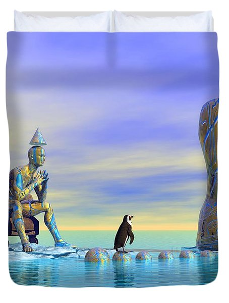 Silent Mind - Surrealism Duvet Cover