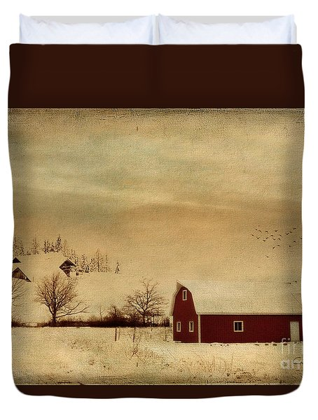 Duvet Cover featuring the photograph Silent Morning by Chris Armytage