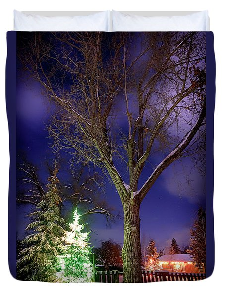 Duvet Cover featuring the photograph Silent Night by Cat Connor