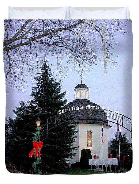 Silent Night Chapel Duvet Cover by LeeAnn McLaneGoetz McLaneGoetzStudioLLCcom