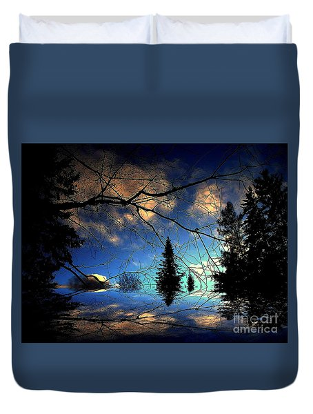 Duvet Cover featuring the photograph Silent Night by Elfriede Fulda