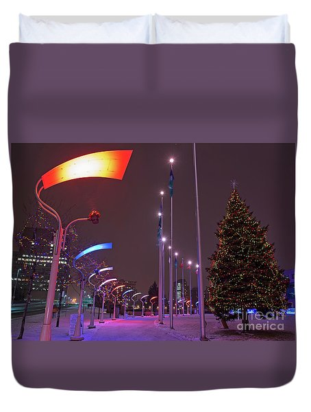 Duvet Cover featuring the photograph Silent Night.. by Nina Stavlund