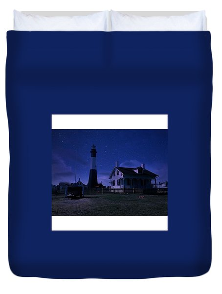 Silent Nights On Tybee Island Duvet Cover