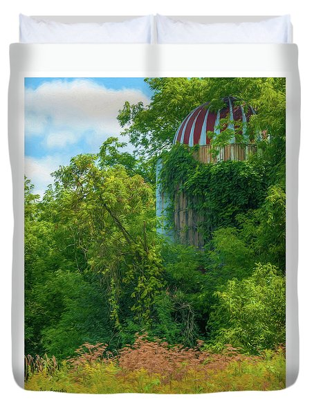Silent Silo On Nottleson Road Duvet Cover by Trey Foerster