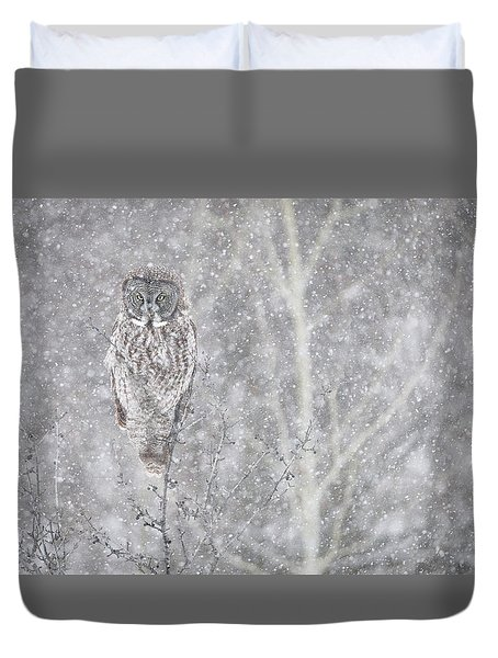 Duvet Cover featuring the photograph Silent Snowfall Landscape by Everet Regal