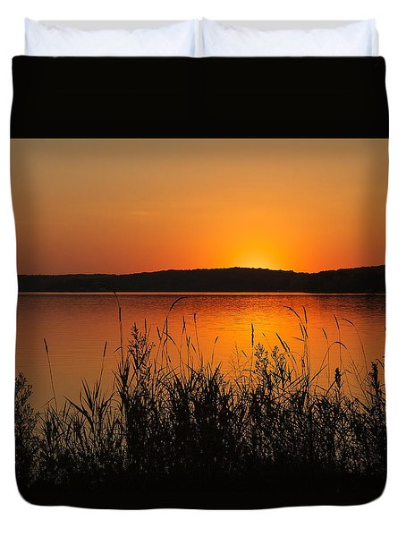 Silent Sunset Duvet Cover