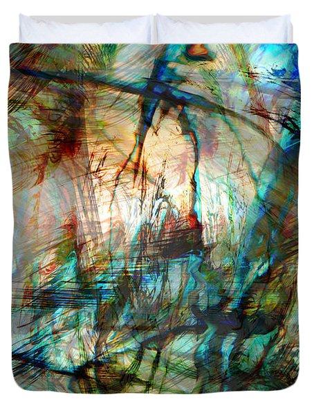 Silent Warrior Duvet Cover by Linda Sannuti