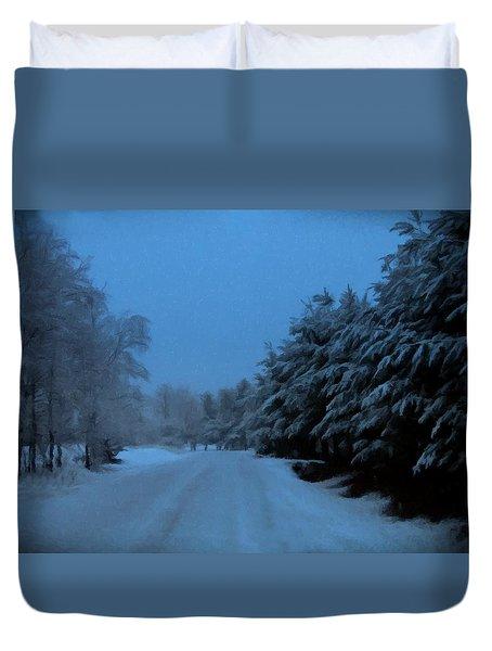 Silent Winter Night  Duvet Cover by David Dehner
