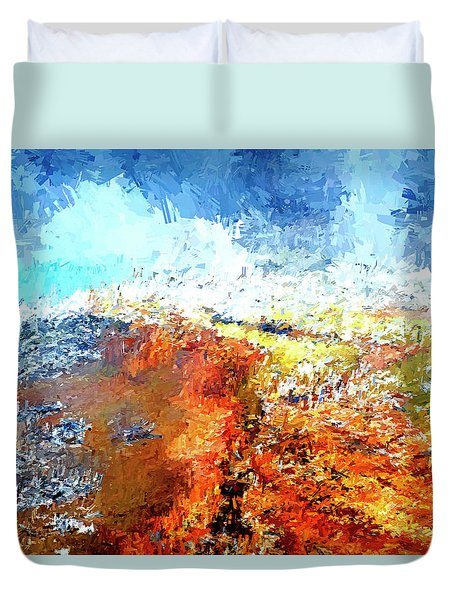 Silex Hot Springs Abstract Duvet Cover