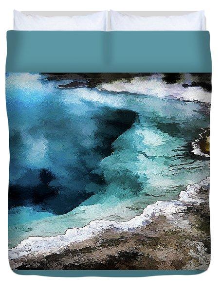 Silex Hot Springs   Impressionism Duvet Cover