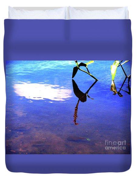 Silhouette Aquatic Fish Duvet Cover