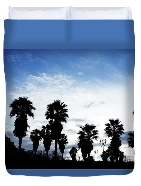 Silhouette In Tropea Duvet Cover
