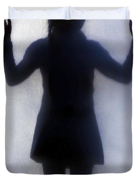 Silhouette Of A Girl Duvet Cover by Joana Kruse