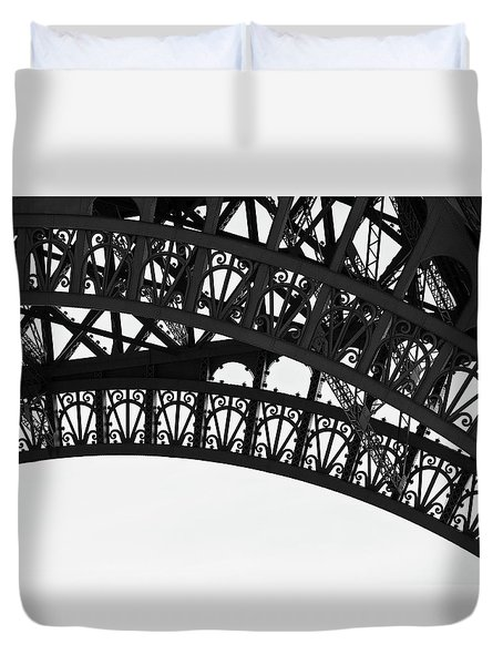 Duvet Cover featuring the photograph Silhouette - Paris, France by Melanie Alexandra Price
