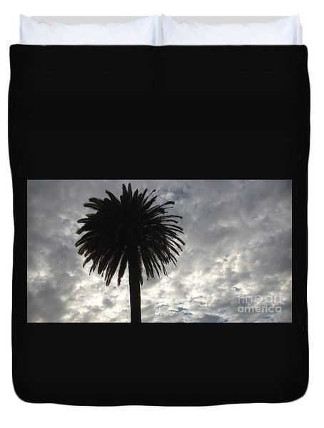 Silhouette Solo Palm  Duvet Cover