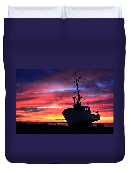 Silhouette Sunset Duvet Cover